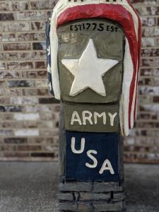 Army Veteran Carving