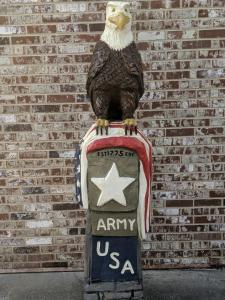 Army Veteran Eagle Monument Front view