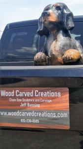 Blue Tick Coon Hound Advertising for Truck