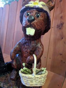 Happy cartoonish beaver
