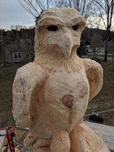 Wood Carved Creations Eagle carving full front