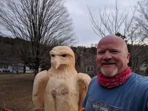 Wood Carved Creations Eagle carving