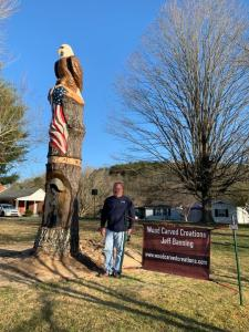 Wood Carved Creations Patriotic Themed Carving Washington Pike Commission