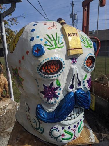 Sugar Skull- Wood Carved Creations.com 2